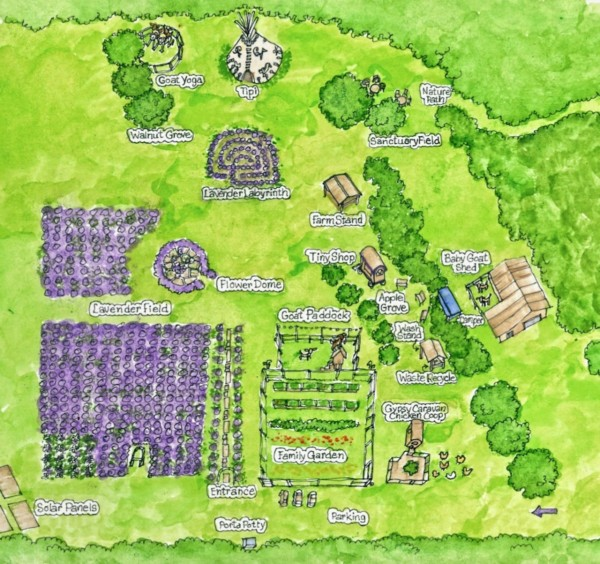 Mad Lavender Farm Map