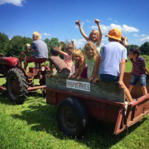 Raspberry tractor tour