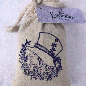 Lavender muslin sachet bag