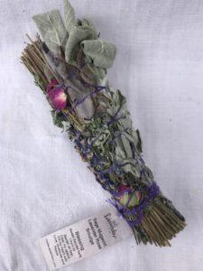Lavender Sage Mugwort Rose Smudge Stick