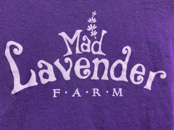 Mad Lavender Farm razer back t-shirt graphic