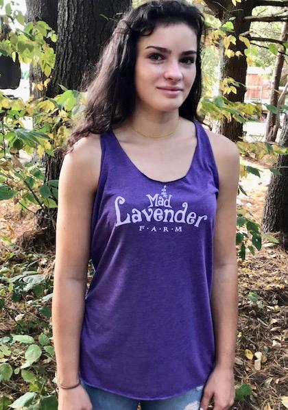 Mad Lavender Farm Racer Back Tee Shirt
