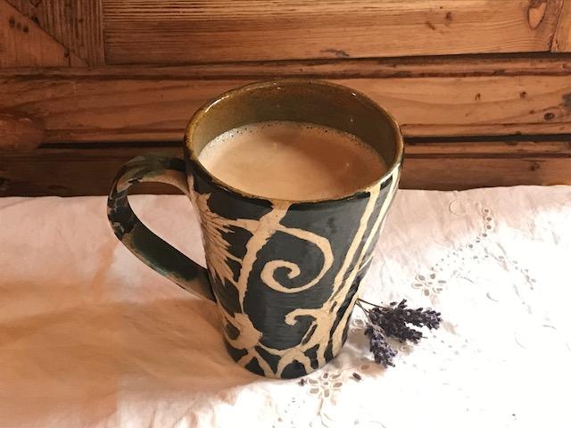 Lavender latte at home