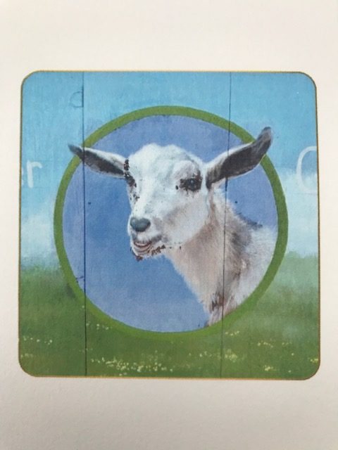 White Goat Card