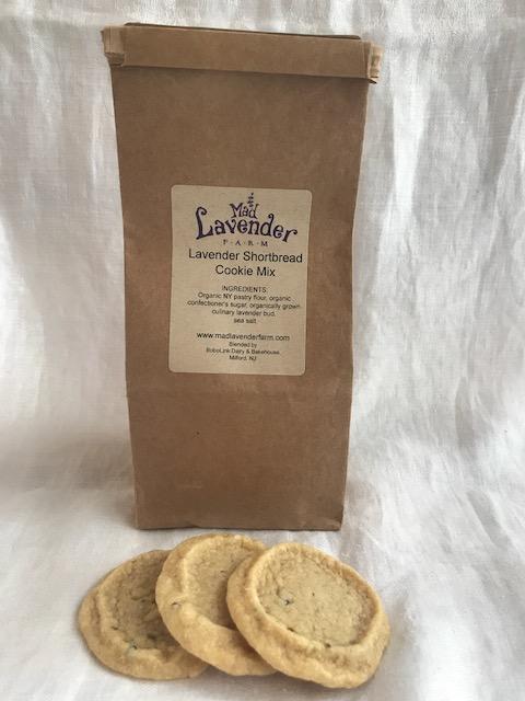 Lavender shortbread cookie mix