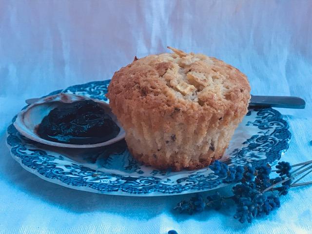 Apple lavender muffin