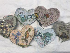 Hand made paper valentines