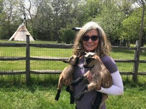 Ava and goats