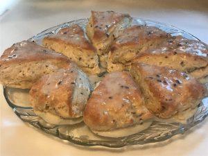 Scones with Lemon Lavender icing